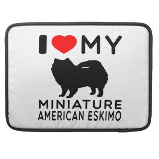Amo mi esquimal americano miniatura funda para macbooks