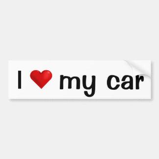 Amo mi etiqueta engomada de parachoques del coche pegatina para auto
