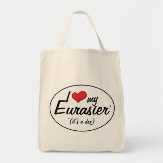 Amo mi Eurasier (es un perro) Bolsa Tela Para La Compra