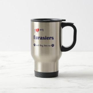 Amo mi Eurasiers (los perros múltiples) Taza De Café