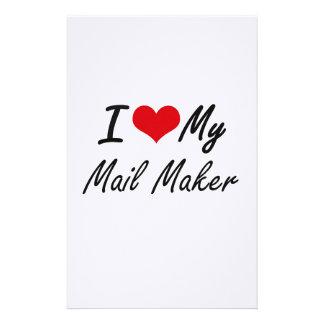 Amo mi fabricante del correo  papeleria
