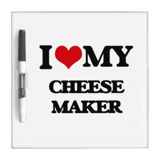 Amo mi fabricante del queso pizarras blancas de calidad
