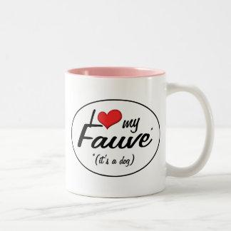 Amo mi Fauve es un perro Taza De Café