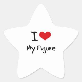 Amo mi figura colcomanias forma de estrella personalizadas