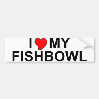 Amo mi Fishbowl Pegatina Para Auto