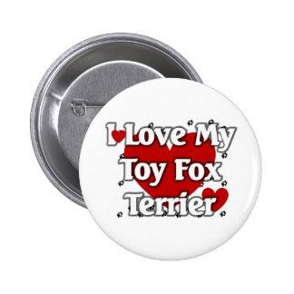 Amo mi fox terrier del juguete pin redondo 5 cm