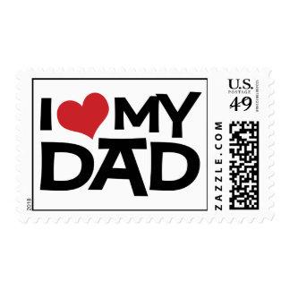 Amo mi franqueo del personalizado del día de padre