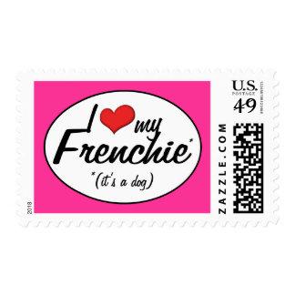 Amo mi Frenchie (es un perro) Sellos