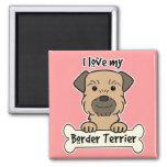 Amo mi frontera Terrier Iman Para Frigorífico