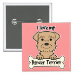 Amo mi frontera Terrier Pin