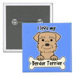 Amo mi frontera Terrier Pins
