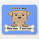Amo mi frontera Terrier Tapete De Ratones