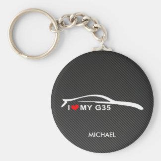 Amo mi G35 Llavero Personalizado