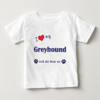 Amo mi galgo (el perro femenino) camisas