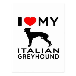 Amo mi galgo italiano postales