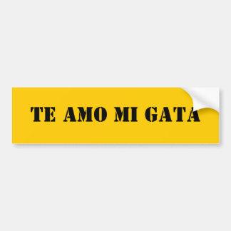 Amo Mi Gata Bumper Sticker