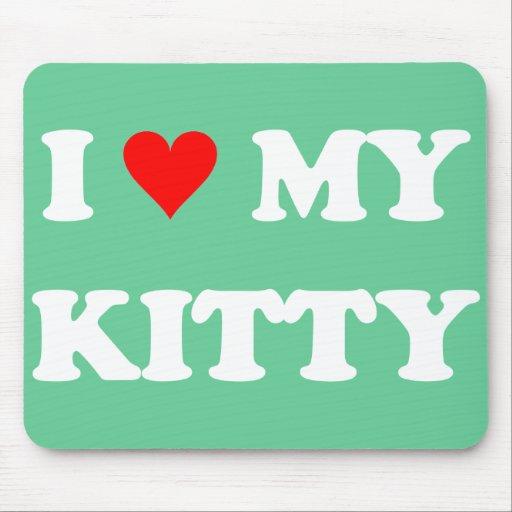 Amo mi gatito alfombrillas de ratones