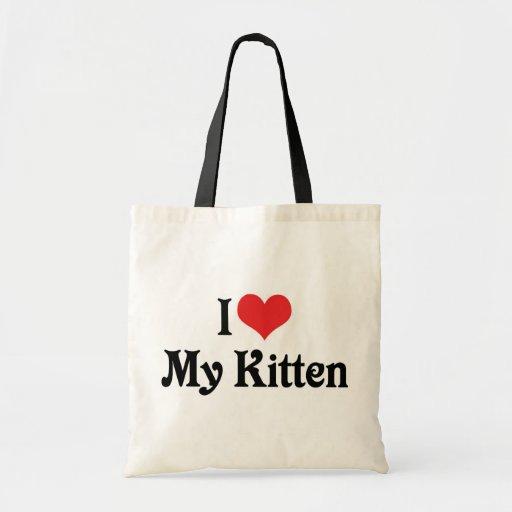 Amo mi gatito bolsa