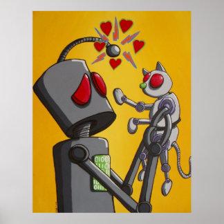 Amo mi gatito del robot póster