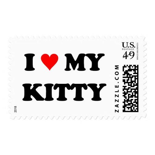 Amo mi gatito sello