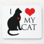 Amo mi gato alfombrilla de ratón