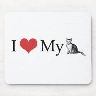Amo mi gato alfombrilla de raton