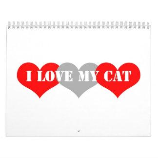 Amo mi gato calendarios