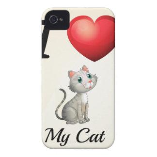 Amo mi gato Case-Mate iPhone 4 carcasa