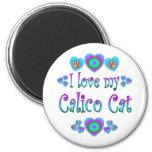 Amo mi gato de calicó iman
