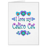 Amo mi gato de calicó tarjetas