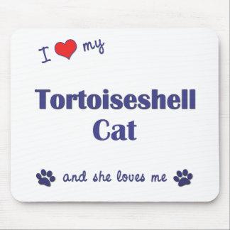 Amo mi gato de la concha (el gato femenino) alfombrilla de ratones