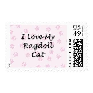 Amo mi gato de Ragdoll Sellos