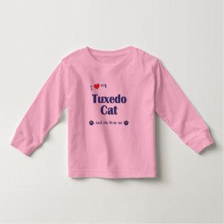 Amo mi gato del smoking (el gato femenino) playera