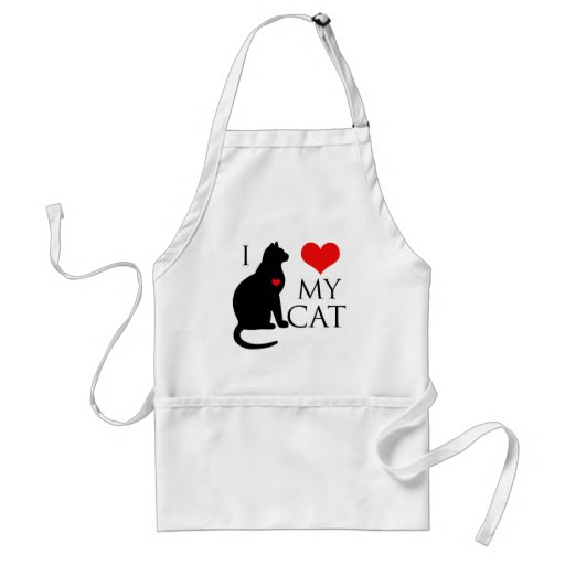 Amo mi gato delantal