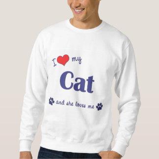 Amo mi gato (el gato femenino) suéter