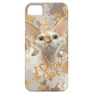 Amo mi gato funda para iPhone 5 barely there