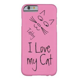 Amo mi gato funda para iPhone 6 barely there