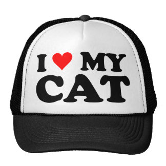Amo mi gato gorras
