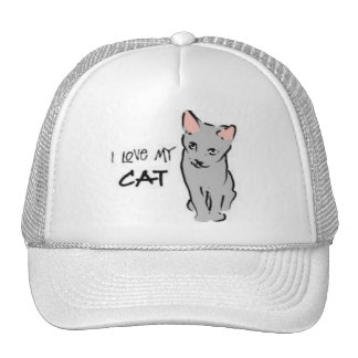 ¡Amo mi gato! Gorras De Camionero