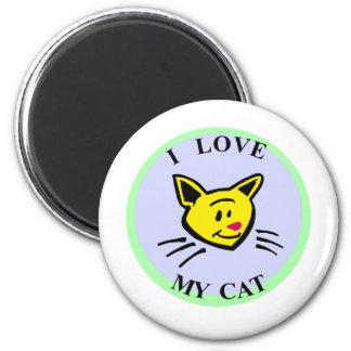 ¡Amo mi gato Imán Para Frigorifico