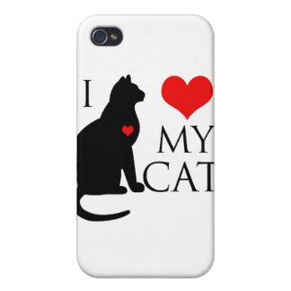 Amo mi gato iPhone 4/4S fundas