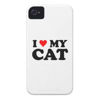 Amo mi gato iPhone 4 Case-Mate cárcasas