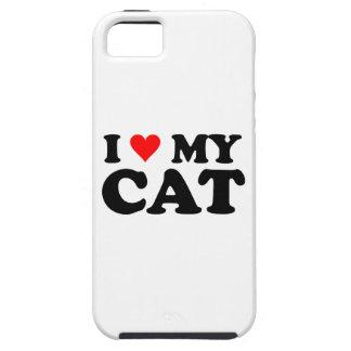 Amo mi gato iPhone 5 carcasas