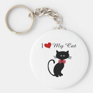 Amo mi gato llavero personalizado