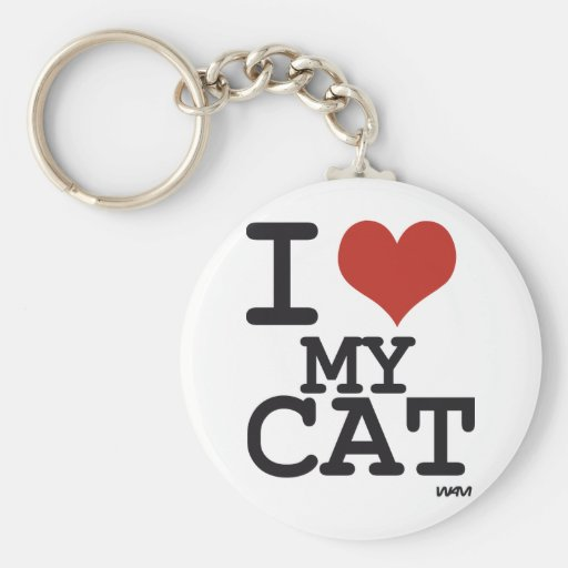 Amo mi gato llavero redondo tipo pin