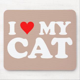 Amo mi gato mouse pad