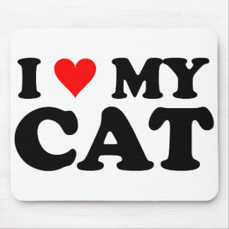 Amo mi gato mousepads