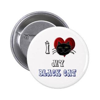 amo mi gato negro pin redondo 5 cm