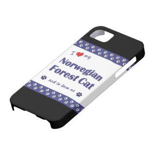 Amo mi gato noruego del bosque (el gato masculino) iPhone 5 funda