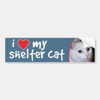 Amo mi gato Pegatina-Todo-Blanco de parachoques Pegatina Para Auto